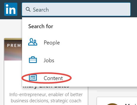 Tapping into LinkedIn's brain - Bates InfoTips